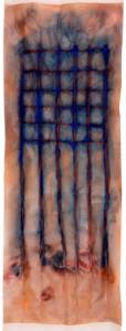 Miguel Mainar. Sin título 6. Técnica mixta sobre papel, 160x60 cm, 2011